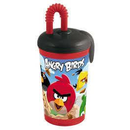 verre paille angry bird