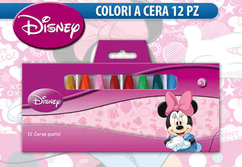 12 ceras de colores minnie