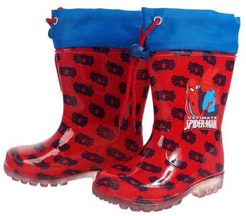 botas agua spiderman 22-24-26-28-30-32