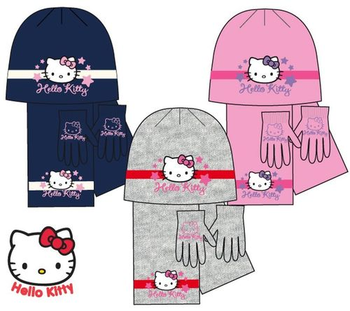 gorro bufanda guantes kitty