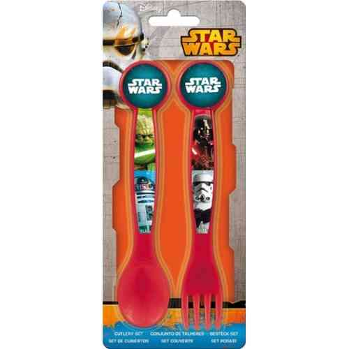 set 2 cubierto Star wars