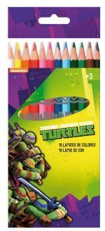 12 lapices color tortugas ninja