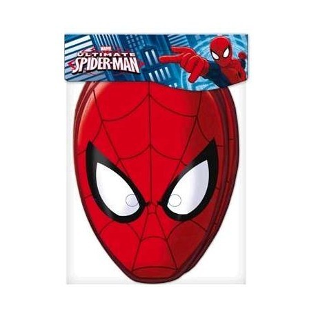 6 masques Spiderman