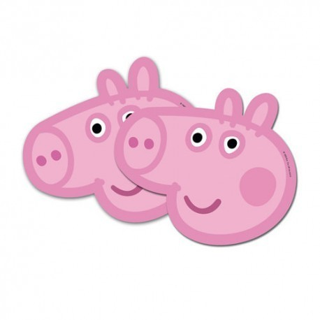 6 masques Peppa pig