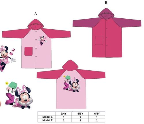impermeable Minnie 3/4-5/6-6/8