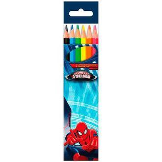 6 crayon couleur Spiderman