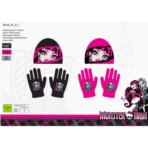 bonnet et gants Monster high