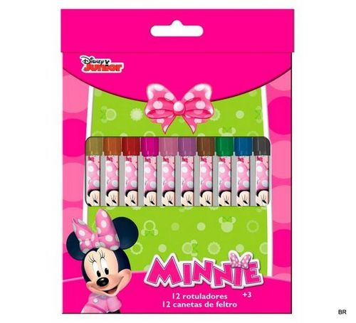 12 rotuladores Minnie