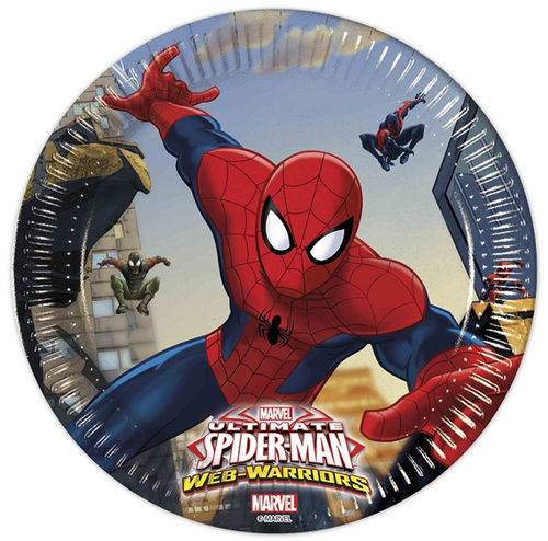 8 platos papel Spiderman 19,50cm