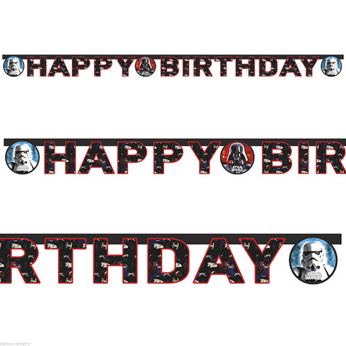 guirnalda papel Star Wars 160cm (HAPPY BIRTHDAY)