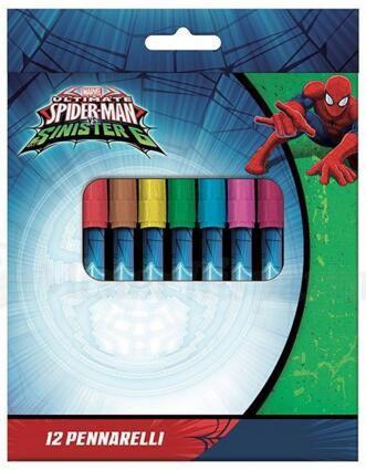 12 markers Spiderman