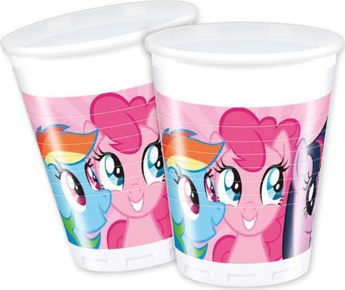 8 vasos plastico Pony 200ml