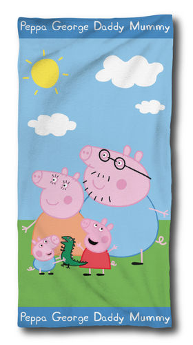 toalla polyester Peppa Pig 70x140