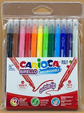 12 watercolor felt tip pens CARIOCA 2,60mm 4,70mm