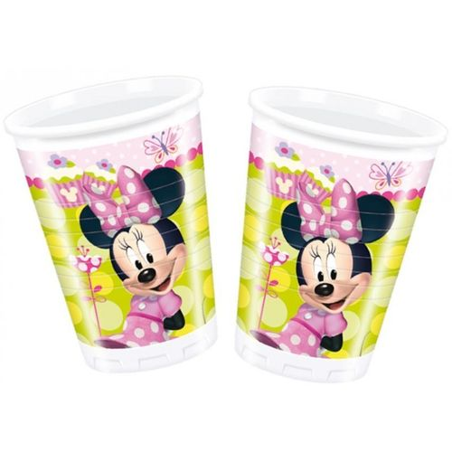 8 vasos plastico Minnie 200ml