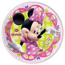 8 platos papel Minnie 19,50cm