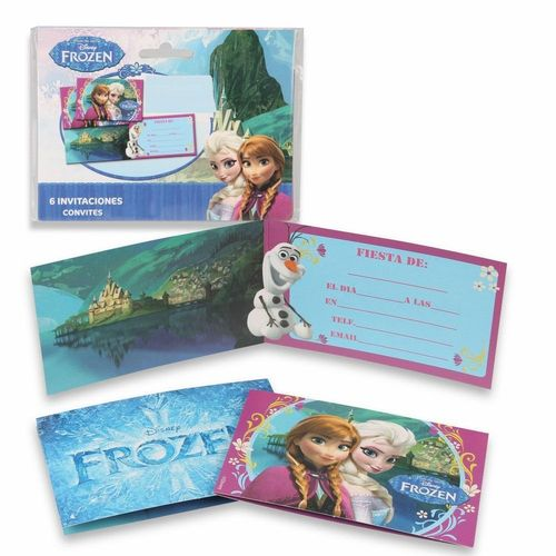 6 invitaciones Frozen