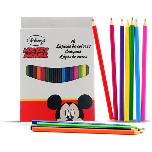 18 crayon couleur Mickey