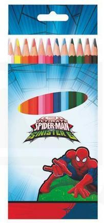 12 crayon couleur Spiderman