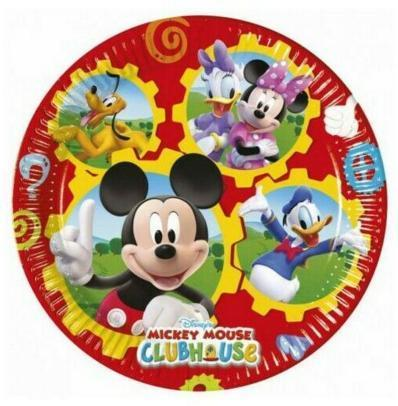 8 platos papel Mickey 19,50cm