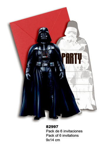6 invitaciones Star Wars