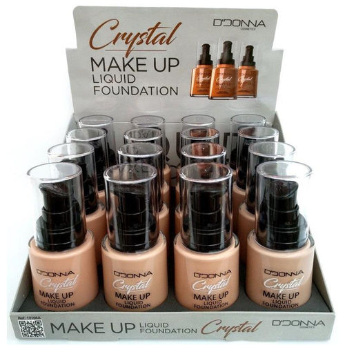 MAQUILLAJE FLUIDO CRYSTAL(1.10€ UNIDAD) PACK 16 D'DONNA
