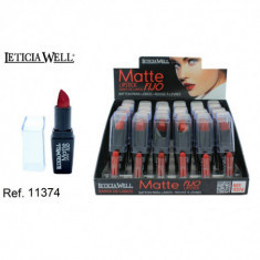 BARRA DE LABIOS FIJO + MATTE 6 color(0.70€'UNIDAD) PACK 24 LETICIA WELL
