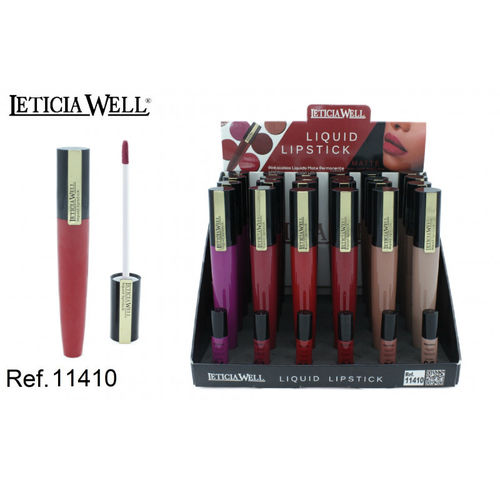 ROUGE À LEVRES LIQUID MATTE 6 COULEURS (0.75 € UNITE) PACK 24 LETICIA WELL