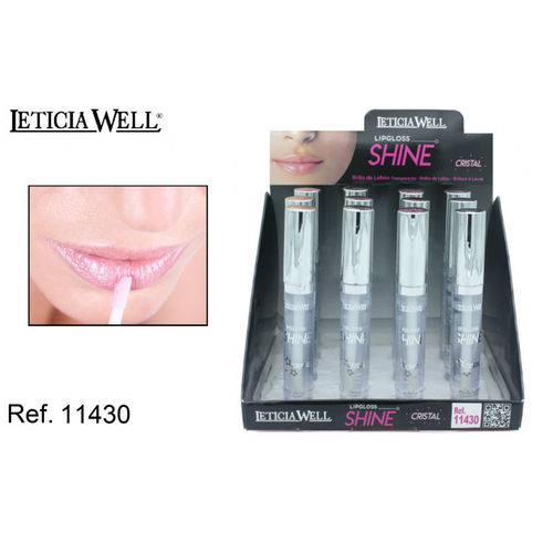 LIPGLOSS SHINE CRISTAL TRANSPARENT (0.55€ UNITE) PACK 12 LETICIA WELL