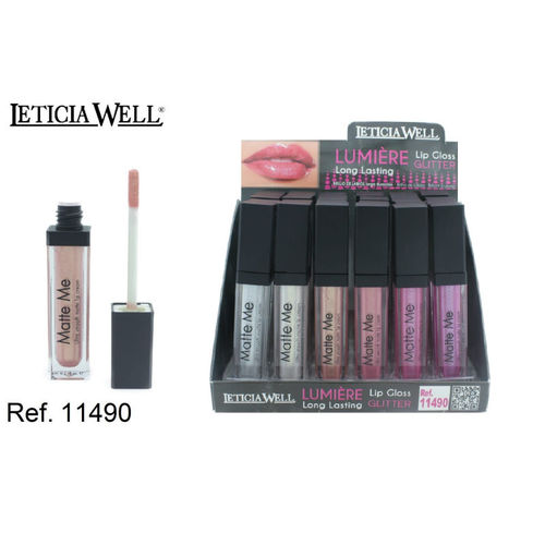 LIPGLOSS GLITTER LUMIERE 6 COLORES(0.60€' UNIDAD) PACK 24 LETICIA WELL