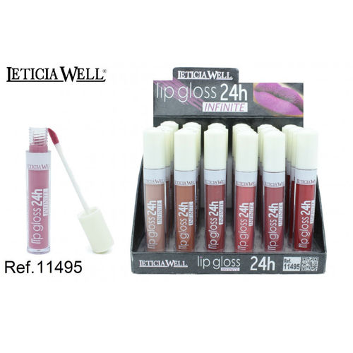 LIPGLOSS 24H. INFINITE 6 color(0.65€' UNIDAD) PACK 24 LETICIA WELL
