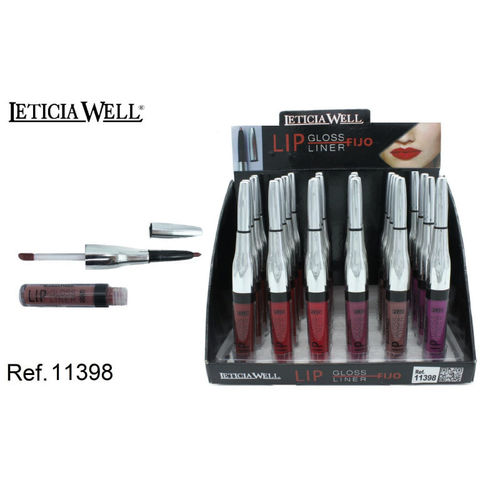 LIPGLOSS + LINER 6 COULEURS (0.69€' UNITE) PACK 24 LETICIA WELL