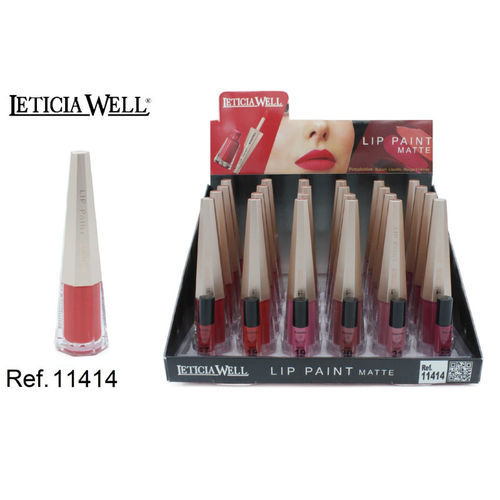 LIP PAINT MATTE 6 color(0.75€ UNIDAD) PACK 24 LETICIA WELL