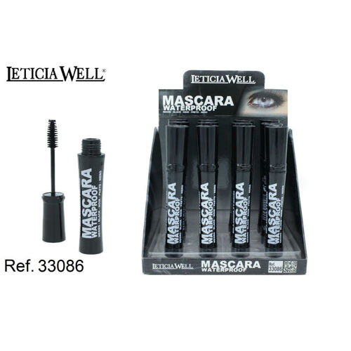 MASCARA DE PESTAÑAS WATERPROOF NEGRA (0.55€' UNIDAD) PACK12 LETICIA WELL