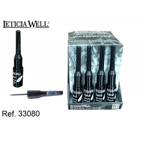 EYE LINER LIQUID WATERPROOF LETICIA WELL NEGRO (0.55 UNIDAD)PACK 24