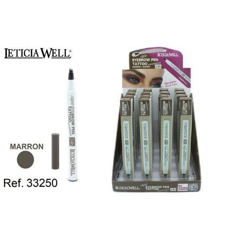 ROTULADOR PARA CEJAS 24H. MARRON(1.05€ UNIDAD) PACK 16 LETICIA WELL