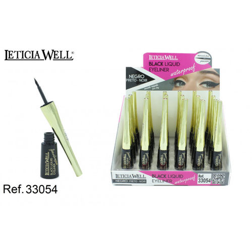 EYELINER NEGRO WATERPROOF(0.55€ UNIDAD) PACK 24 LETICIA WELL