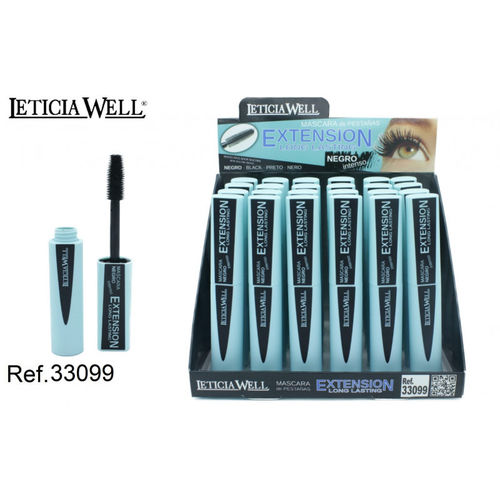 MASCARA DE PESTAÑAS EXTENSION (0.83€ UNIDAD) PACK 24 LETICIA WELL