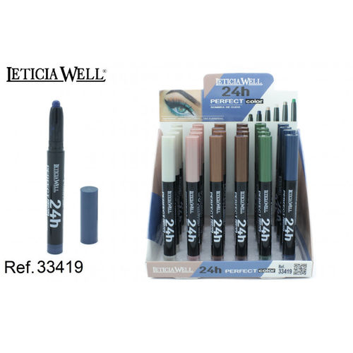 SOMBRA DE OJOS 24H. PERFECT COLOR(0.62€ UNIDAD) PACK 24 LETICIA WELL
