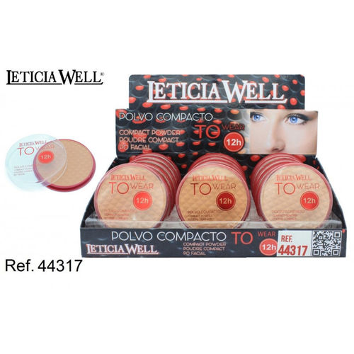 POLVO COMPACTO TO WEAR 12H 3 COLORES (0,65€' UNIDAD) PACK 18 LETICIA WELL
