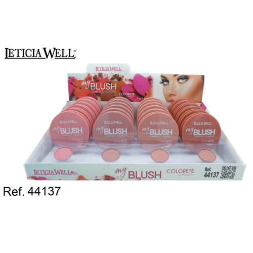COLORETE MY BLUSH 4 COLORES(0.65€ UNIDAD) PACK 24 LETICIA WELL