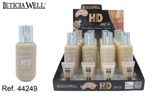 BASE MAQUILLAJE HIGH DEFINITION (1,09 € unidad)PACK 16 LETICIA WELL