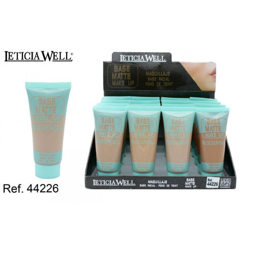 BASE DE MAQUILLAJE FACIAL CON 4 COLORES 30ML.(0.65€' UNIDAD) PACK 16 LETICIA WELL