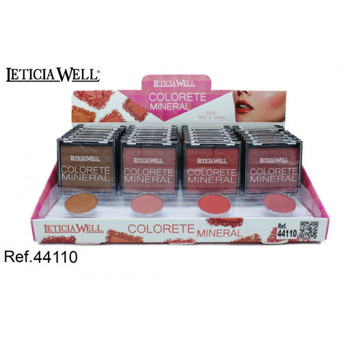 COLORETE MINERAL 4 COLORES(0.65€ UNIDAD) PACK 24 LETICIA WELL