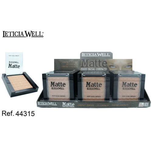 POLVO COMPACTO MATTE 3 COLORES 10GR. (0.75€' UNIDAD) PACK 15 LETICIA WELL