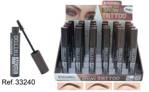 MASCARA CEJAS TATTO .(0.60€ UNIDAD) PACK 24 LETICIA WELL