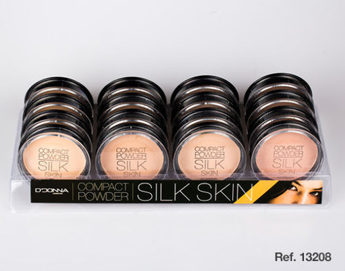 Polvo compacto silk skin 4 colores(UNIDAD 0.60€)pack 16 d'onna