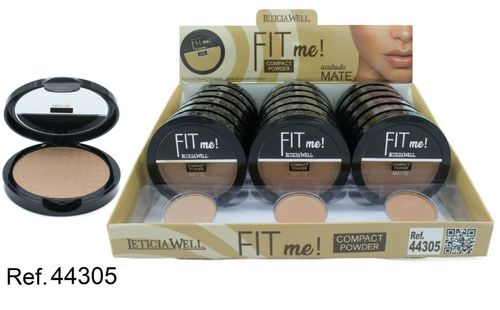 POLVO COMPACTO FIT ME MATTE 3 COLORES(0.69€ UNIDAD) PACK 18 LETICIA WELL