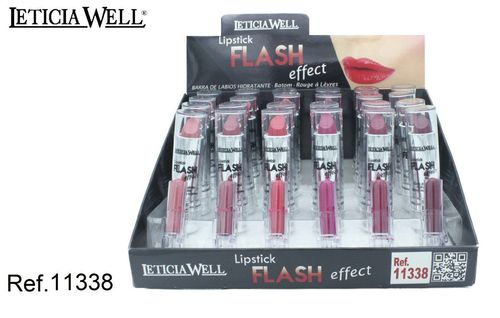 BARRA DE LABIOS EFFET FLASH 6 COLORES(0.50€UNIDAD) PACK 24 LETICIA WELL