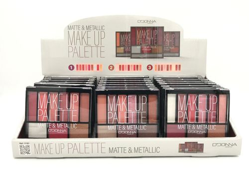 PALETTE MAKE UP MATTE METALLIC (0.85€ UNITE) PACK 24 D'DONNA